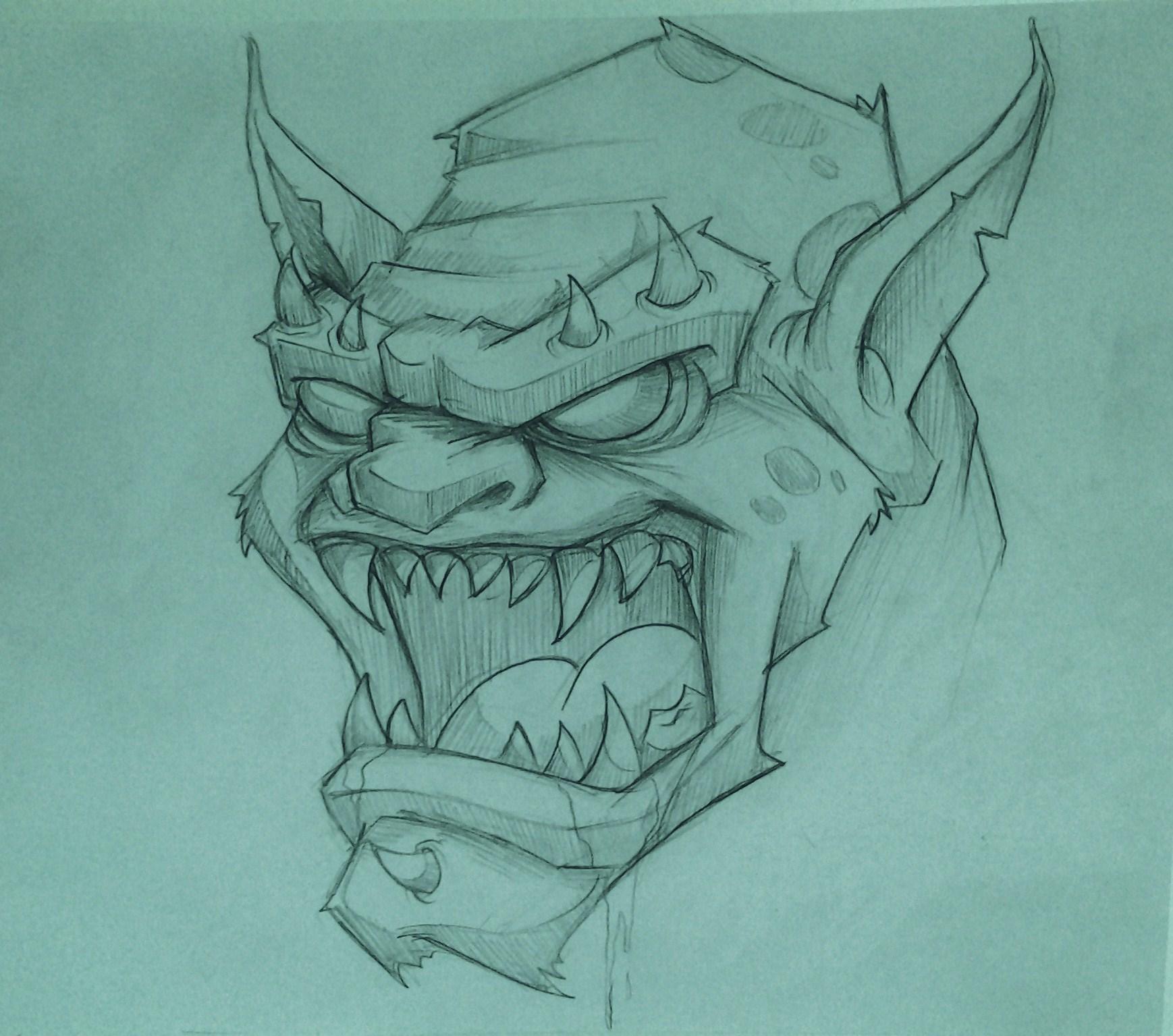 Monster Sketching for Tijuana Flats